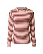 Craghoppers Balmoral Crew Neck Fleece Calico / Fire Red Stripe