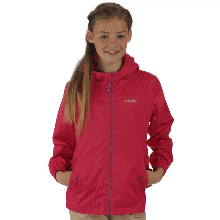 Regatta Kids Disguize Waterproof Jacket with Water Activated Pattern Duchess Floral
