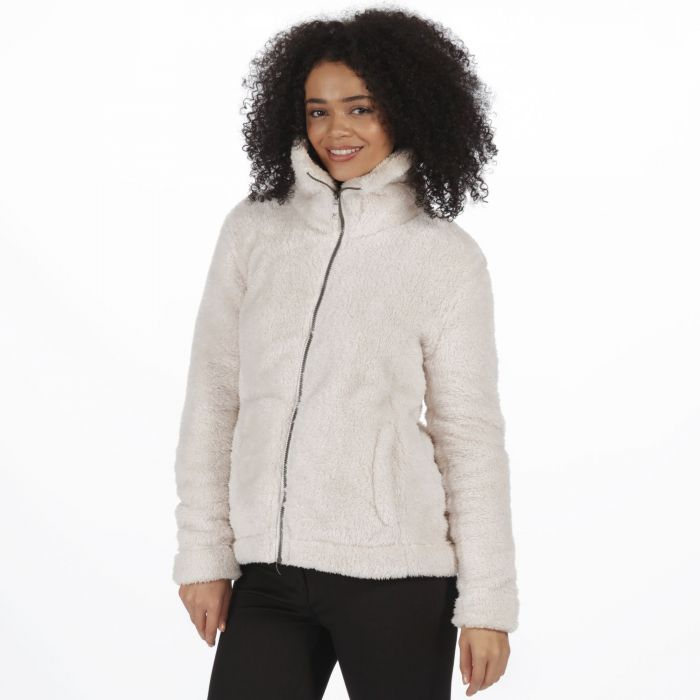 Regatta Halsey Fluffy Full Zip Fleece Light Vanilla