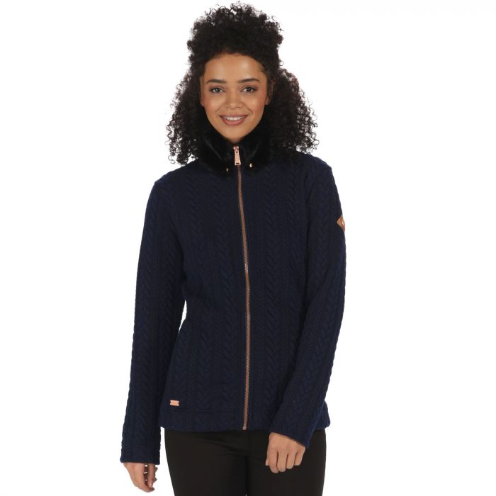 Regatta Tryna Quilted Jersey Fleece Navy