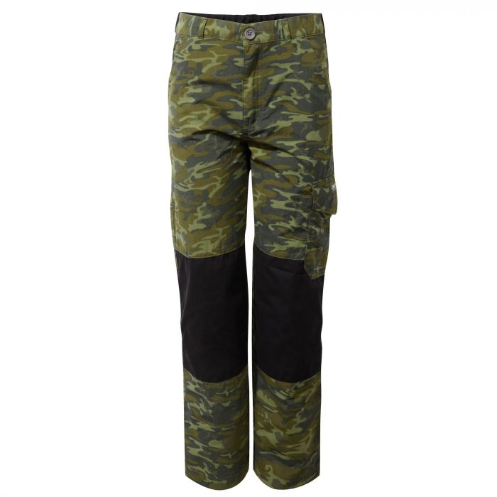 Craghoppers Discovery Adventures Kids Trouser Dark Moss Combo