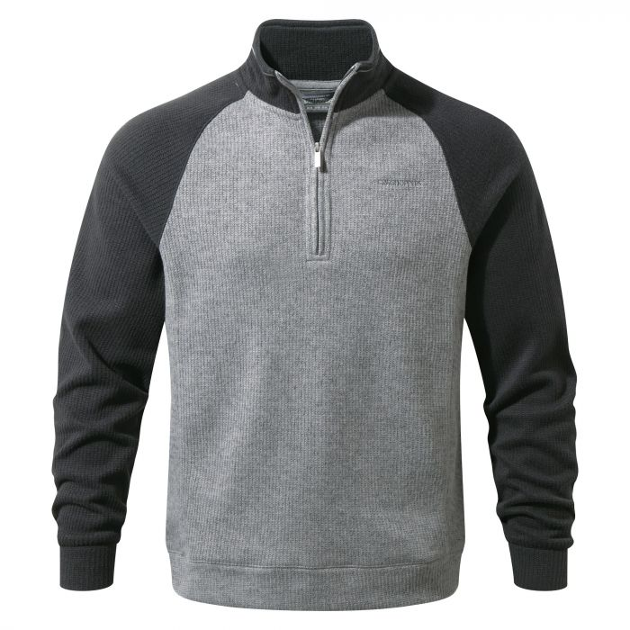 Craghoppers Norton Half Zip Fleece Black Pepper / Quarry Grey