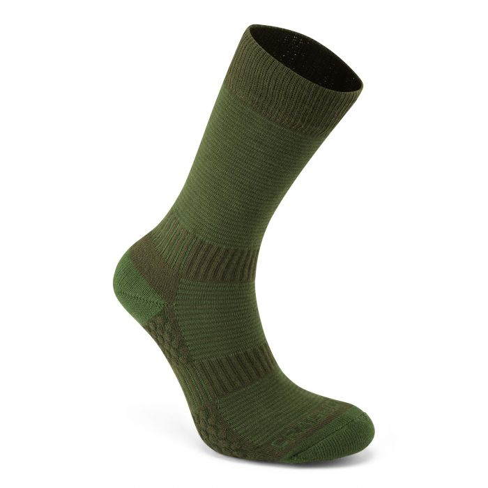 Craghoppers Heat Regulating Travel Sock Lime / Khaki