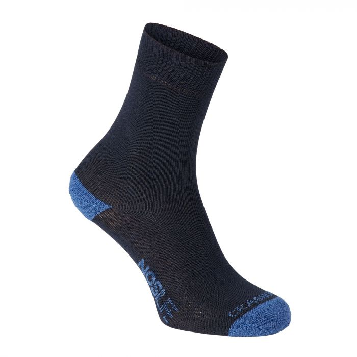 Craghoppers Single Pack NosiLife Travel Socks Dark Navy / Soft Denim