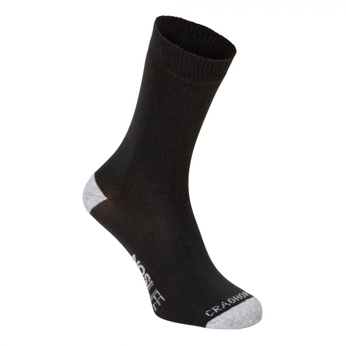Craghoppers Twin Pack NosiLife Socks Charcoal / Seal Grey Marl