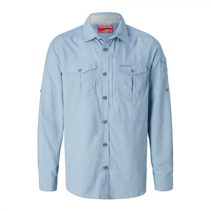 Craghoppers NosiLife Adventure Long Sleeved Shirt Fogle Blue