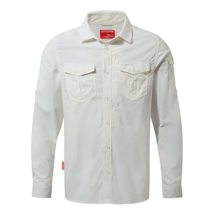 Craghoppers NosiLife Adventure Long Sleeved Shirt Optic White