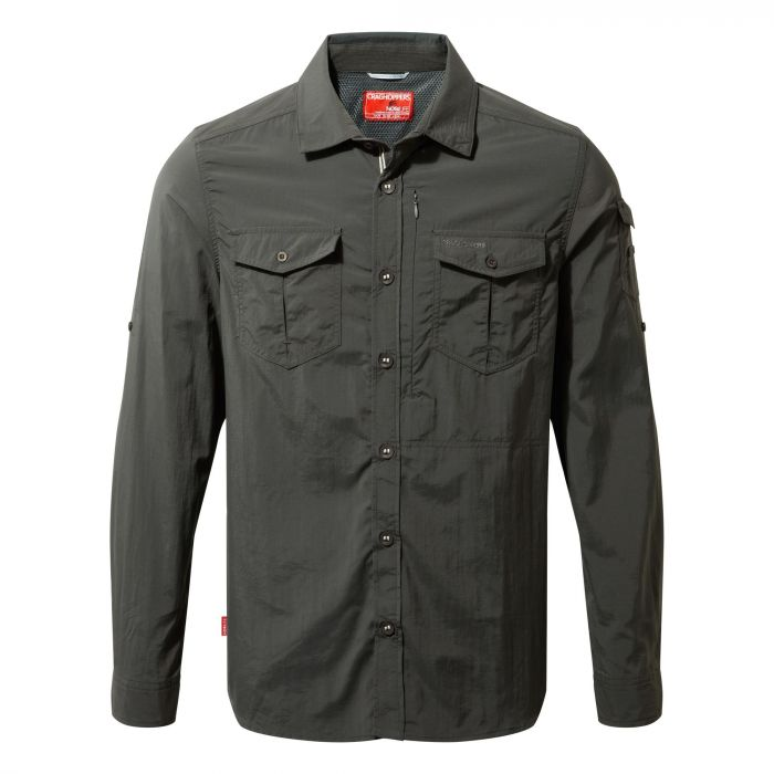 Craghoppers NosiLife Adventure Long Sleeved Shirt Black Pepper