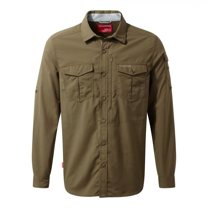 Craghoppers NosiLife Adventure Long Sleeved Shirt Kangaroo