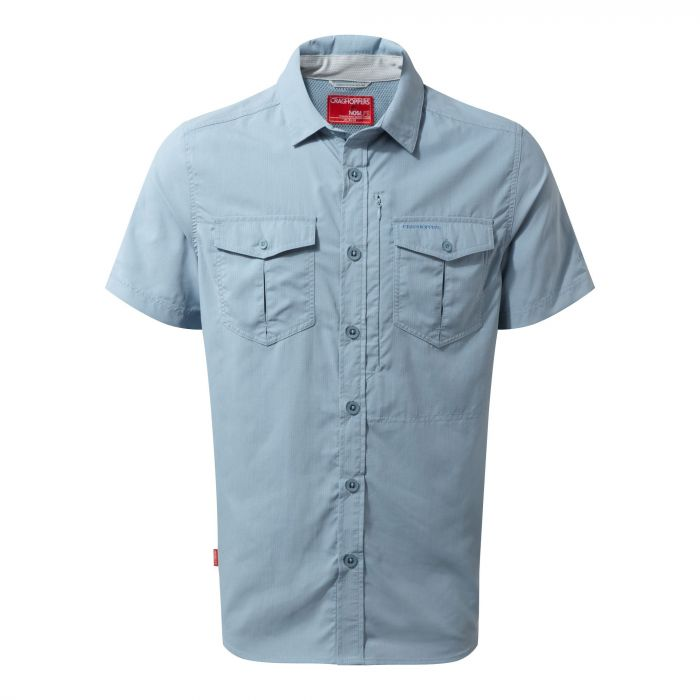 Craghoppers NosiLife Adventure Short Sleeved Shirt Fogle Blue