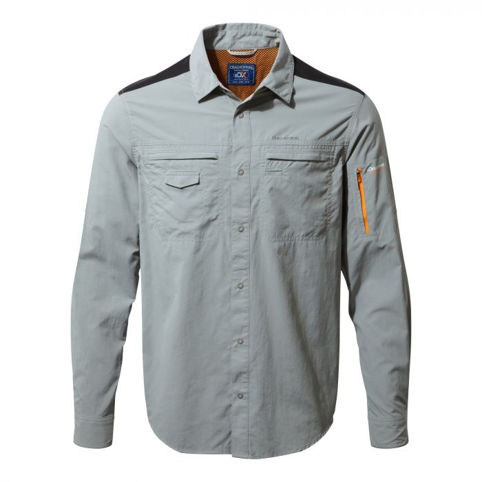 Craghoppers Discovery Adventures Long-Sleeved Shirt Quarry Grey