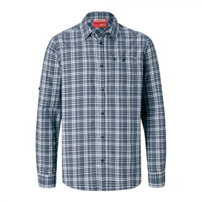 Craghoppers NosiLife Barmera Shirt Ombre Blue Check