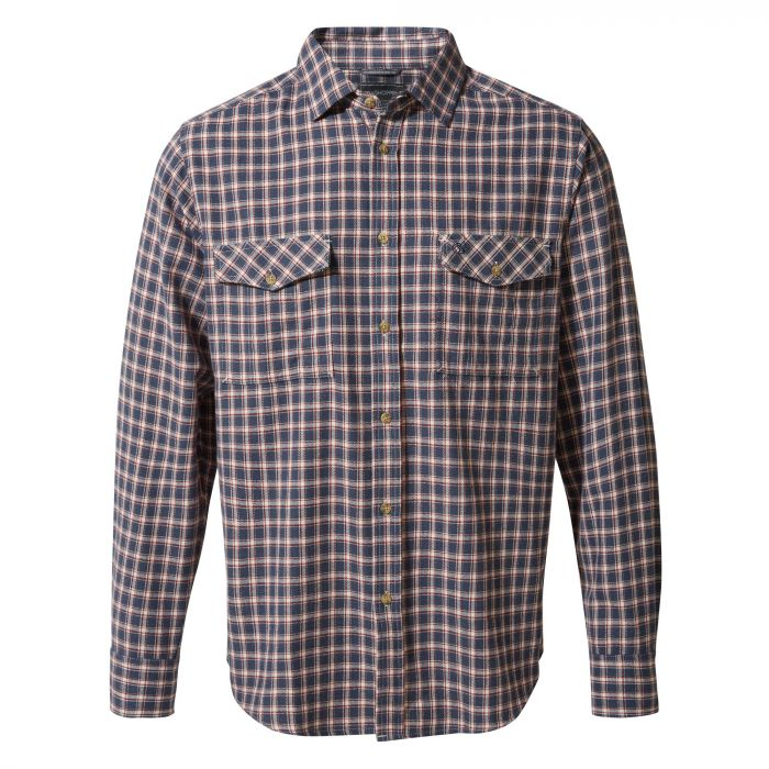 Craghoppers Kiwi Long-Sleeved Check Shirt Ombre Blue Check