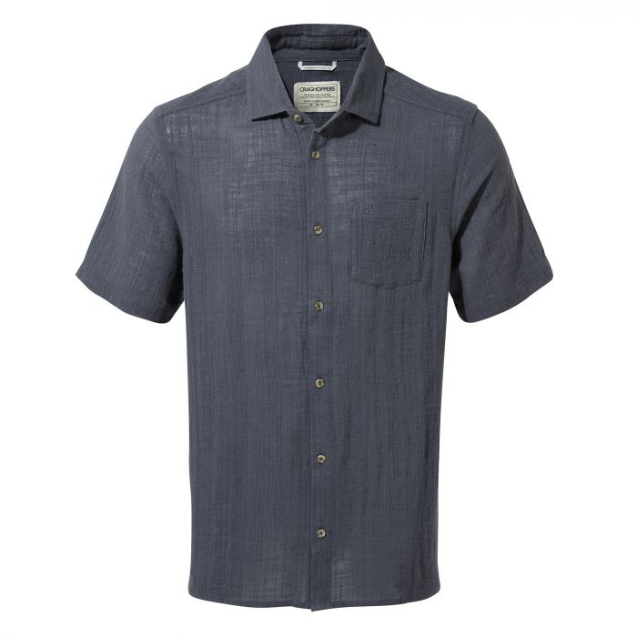 Craghoppers Riviera Short-Sleeved Shirt - Ombre Blue