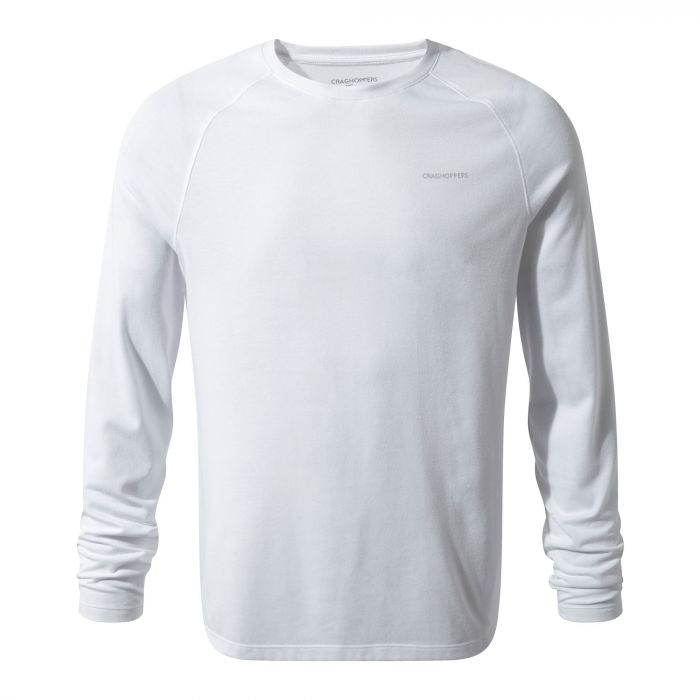 Craghoppers NosiLife Bayame Long Sleeved Tee Optic White