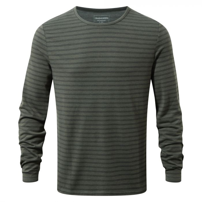 Craghoppers Bentley Long Sleeved Tee Black Pepper Dark Grey