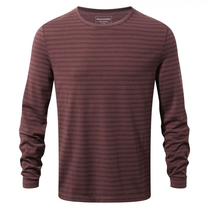 Craghoppers Bentley Long Sleeved Tee Black Pepper Dark Wind