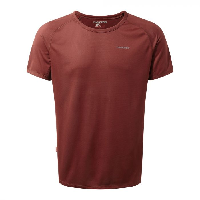 Craghoppers NosiLife Short Sleeved Baselayer Tee Red Earth