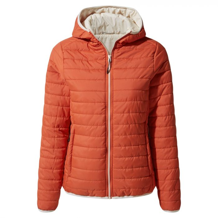 Craghoppers Compresslite III Hooded Jacket Warm Ginger