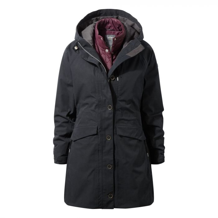 Craghoppers 365 3 in 1 Jacket Black / Winterberry