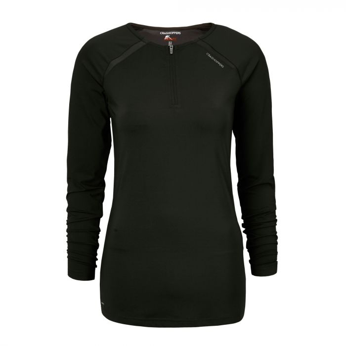 Craghoppers NosiLife Coast Long Sleeved Top Charcoal