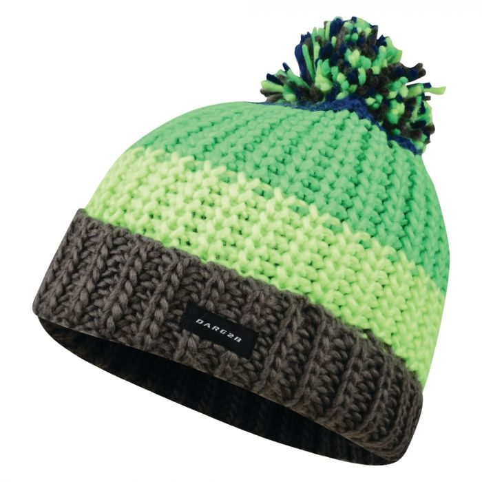 Dare 2B Kids Lineation Beanie Hat Acid Green