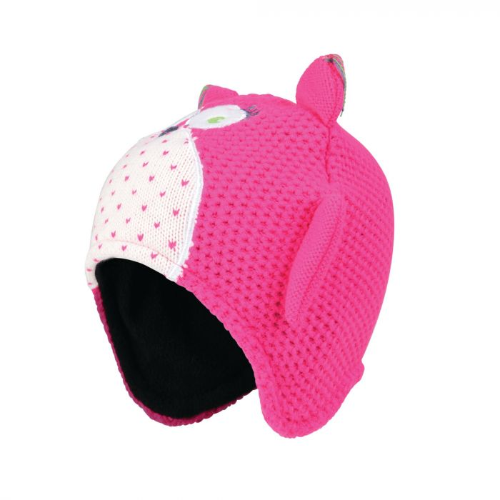 Dare2b Kids Watch Out II Owl Beanie Hat Cyber Pink