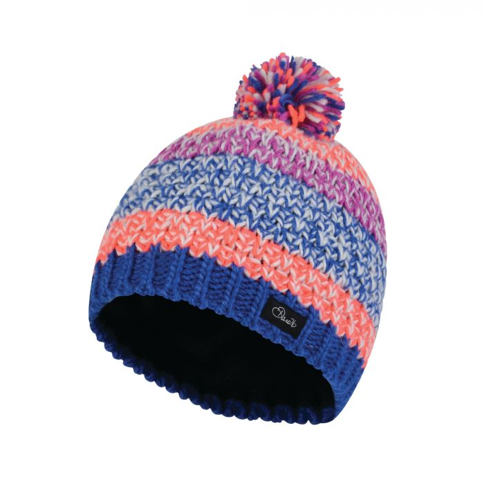 Dare2b Kids Superflash Bobble Beanie Hat Surf Spray