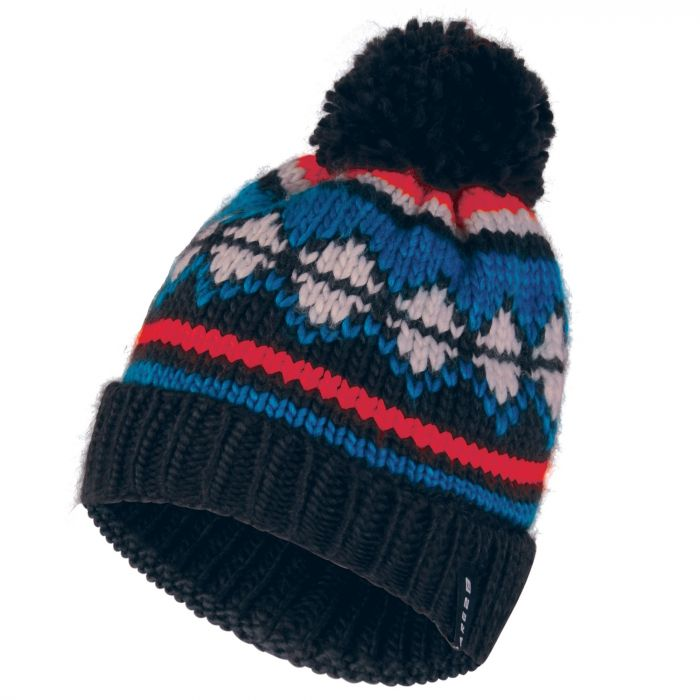 Dare2b Men's Strike It Bobble Beanie Hat Methyl Blue Vibrant Orange