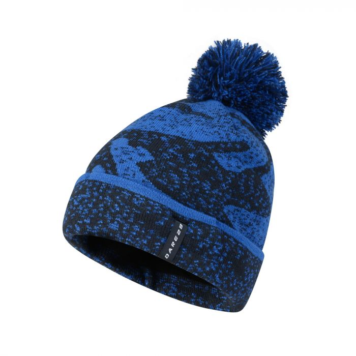 Dare2b Men's No Haste Bobble Beanie Hat Nautical Blue Outerspace Blue
