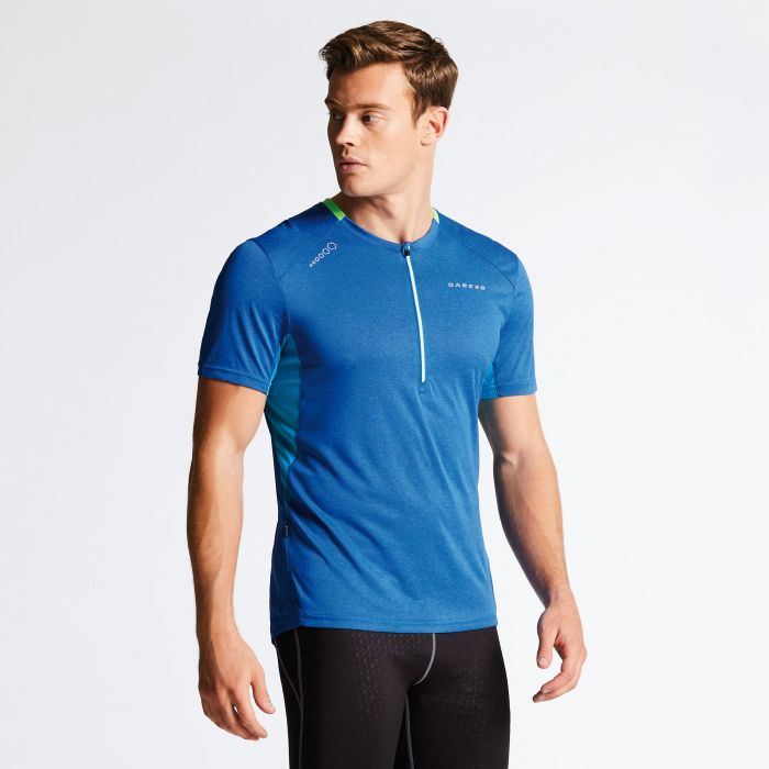 Dare 2B Men's Attest Workout T-Shirt National/Fluro Blue