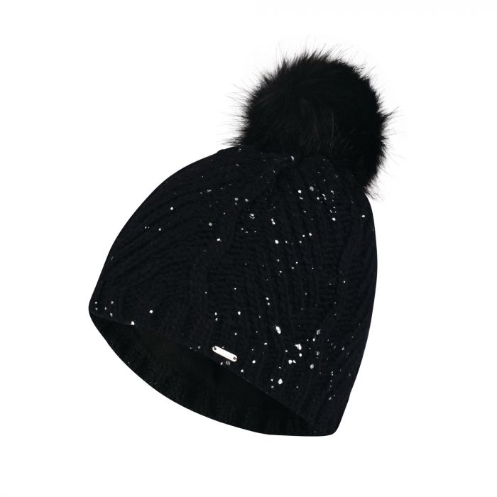 Dare2b Women s Crystalized Bobble Beanie Hat Black  c91392ab53c