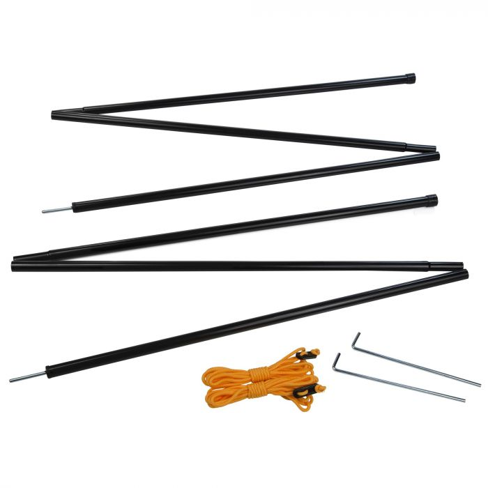 Regatta Canopy Steel Pole Set Black