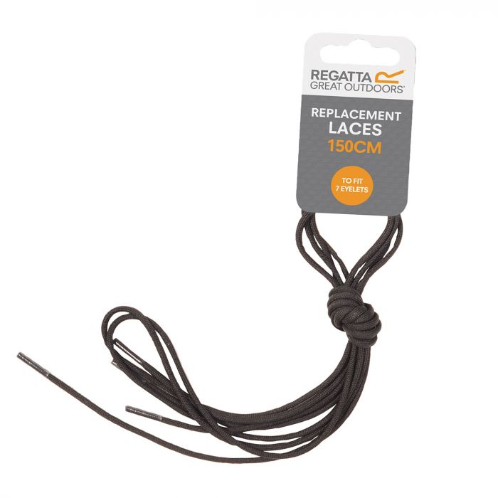 Regatta Replacement Laces Black Grey Pluto