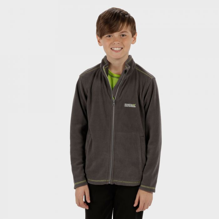 Regatta King II Lightweight Full Zip Fleece Seal Grey