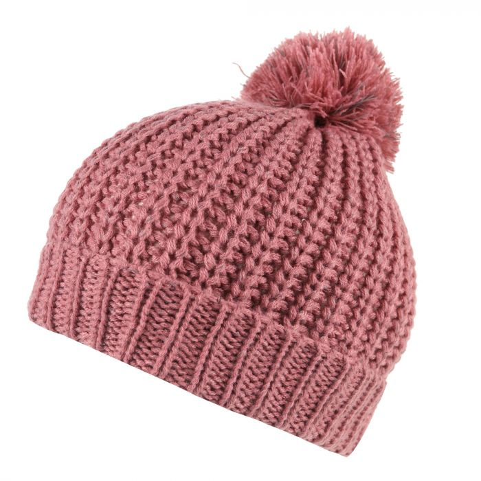 Regatta Luminosity II Reflective Knit Bobble Hat Dusty Rose