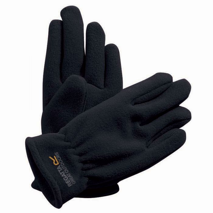 Regatta Kids Taz II Basic Fleece Gloves Black