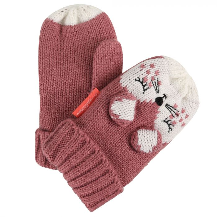 Regatta Kids Animally Mitts II Dusty Rose White