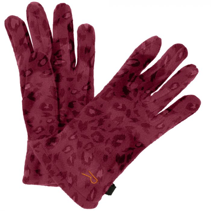 Regatta Fallon Printed Camo Gloves Rumba Red Animal