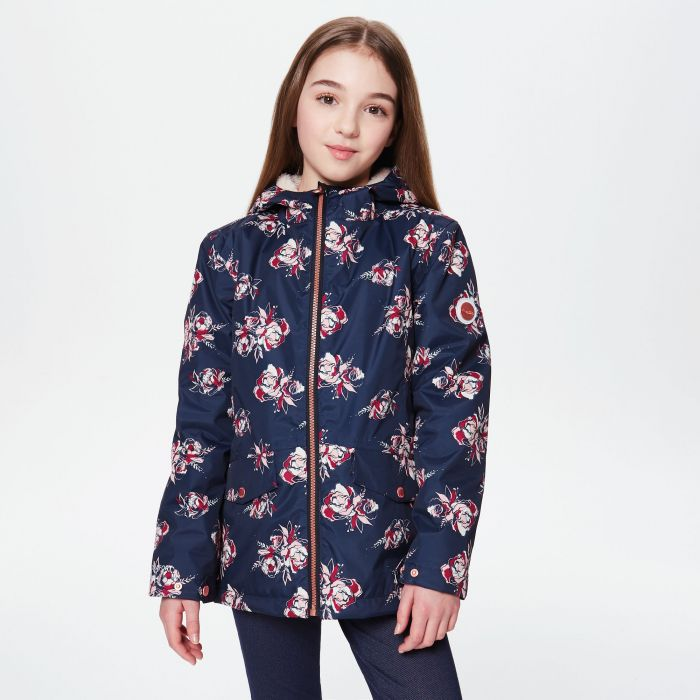 Regatta Berezie Waterproof Insulated Jacket Navy Floral Print