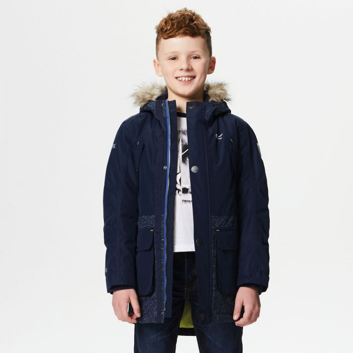 Regatta Payton Waterproof Insulated Parka Jacket Navy