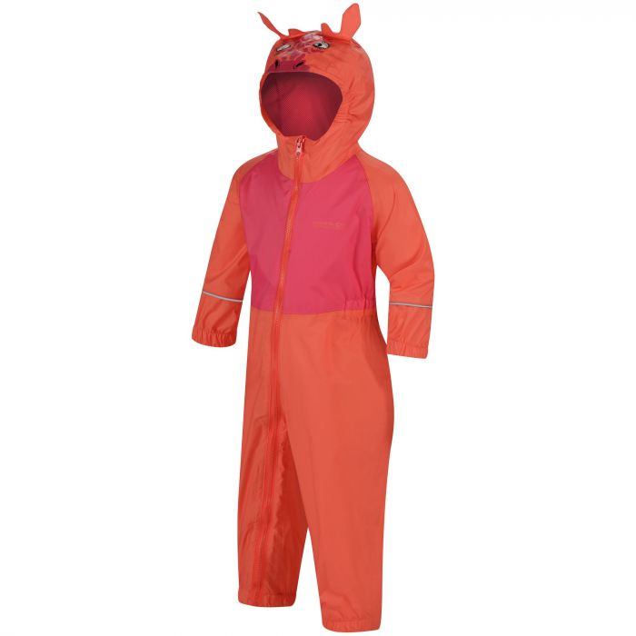 Kids Charco Waterproof Puddle Suit Neon Peach