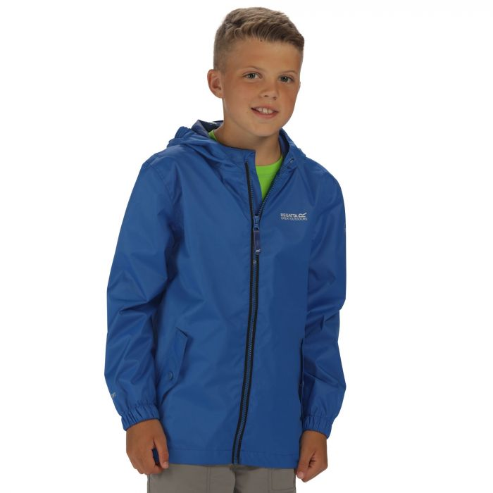 Regatta Kids Disguize Waterproof Jacket with Water Activated Pattern Oxford Blue