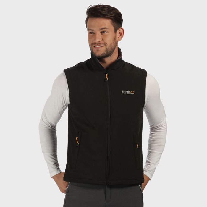 Regatta Bradwell II Wind Resistant Stretch Softshell Gilet Black Iron