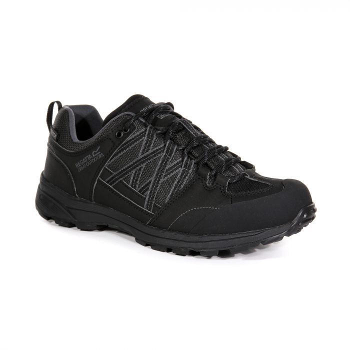 624ebf851a3 Regatta Men's Samaris II Walking Shoes Black Granite