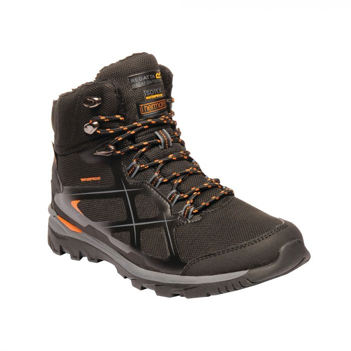 Regatta Kota Thermo Mid Walking Boots Black Granite