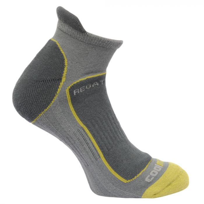 Regatta Men's Trail Runner Trainer Socks Granite Oasis Green