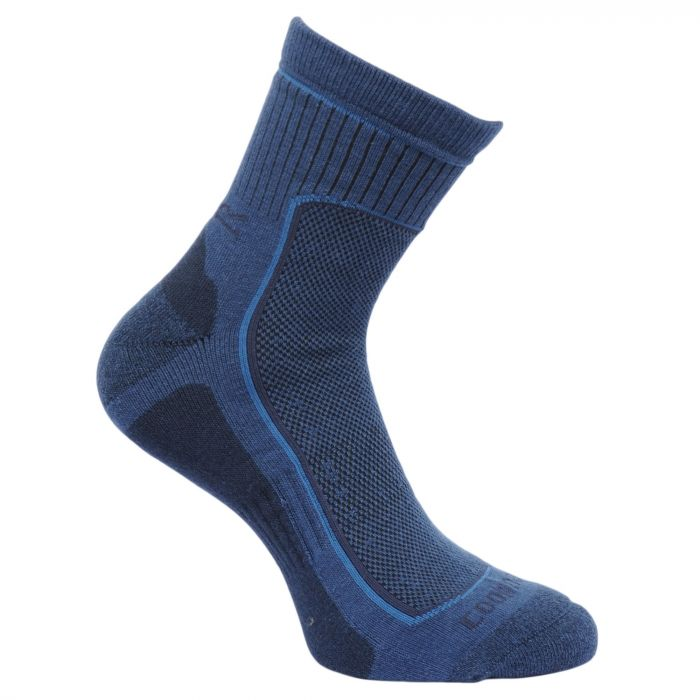 Regatta Men's 2 Pack Active Socks Dark Denim Granite