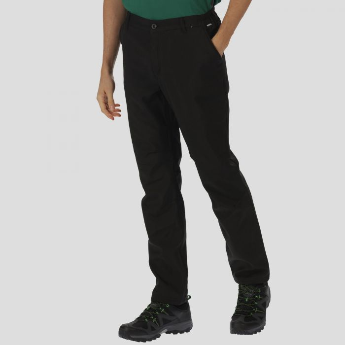 Regatta Men's Fenton Wind Resistant Softshell Trousers Black