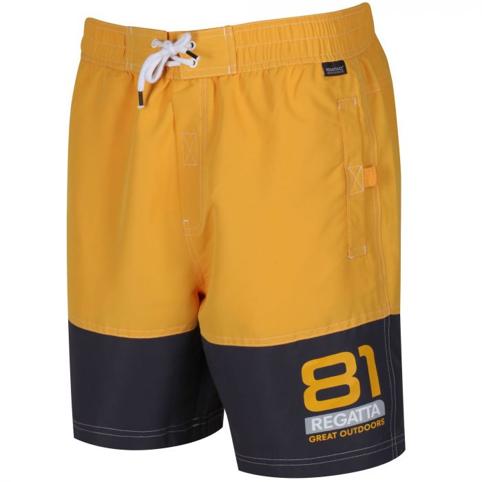 b66a324645 Regatta Brachtmar II Swim Shorts Old Gold Iron | Hawkshead